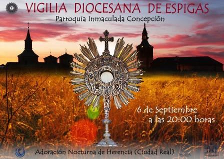 NUEVO ACTO JUBILAR: VIGILIA DIOCESANA DE ESPIGAS. 6 DE SEPTIEMBRE